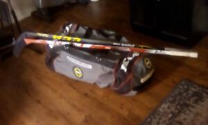 Hockey Equipment & 2 sticks