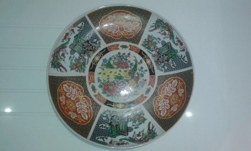 Large (46cm) Hand painted Ceramic Plate / Moroccan plate & Large (46cm) Hand painted Ceramic Plate / Moroccan plate   in ...