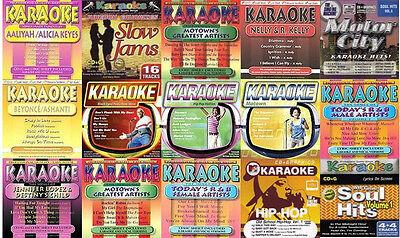 16 used R&B KARAOKE CD'S ~ wholesale LOT Soul/Funk/Motown/Rap/Hip-hop/70's Disco