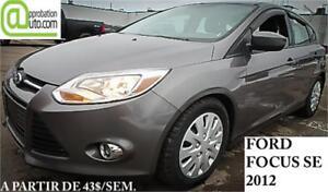 2012 Ford Focus SE,  À PARTIR DE 43$/SEM. 100% APPROUVÉ !