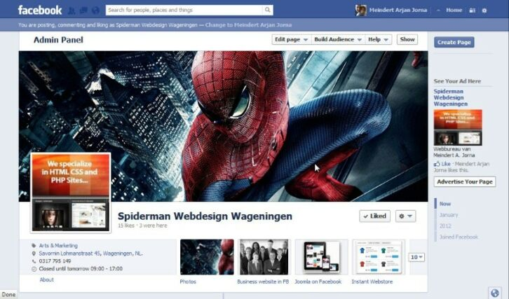 Spiderman Webdesign Wageningen - dewebmeester