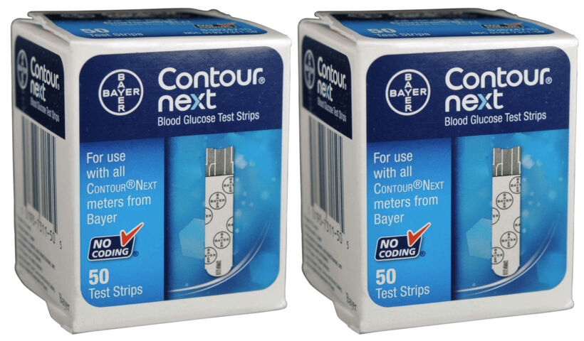 Bayer Contour Next Test Strips - 100 count (2 Boxes of 50) EXP IN 2019