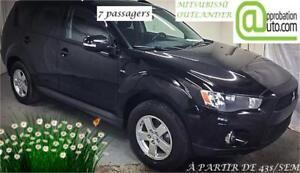 Mitsubishi Outlander LT 7 places 2011, À PARTIR DE 43$/SEM.100%