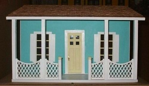 Dollhouse The Florida Bungalow 1/12 Scale by Alessio Miniatures - Assembled