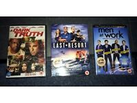Last Resort Complete Series, A Dark Truth, Men at Work Season One. NEW DVDS