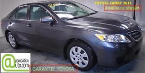 2011 Toyota Camry LE, À PARTIR DE 43$/SEM. 100% APPROUVÉ !!!