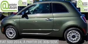 2014 FIAT 500, À PARTIR DE 30$/SEM. 100% APPROUVÉ !