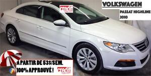 2010 Volkswagen Passat CC Sportline, À PARTIR DE 53$/SEM.100% AP