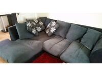 Black/grey corner sofa incl. matching cushions *Under Offer*