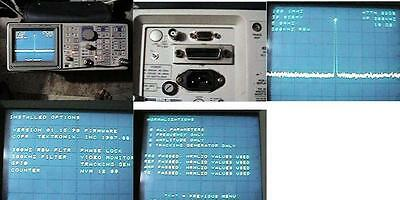 Tektronix 2710 Spectrum Analyzer 9khz To 1.8ghz Nr Gpib Tracking Generator Opts