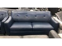 DFS Ritchie 3 seater sofa and Armchair in blue leather