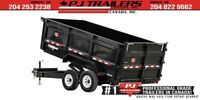 "2019 PJ 16' x 83"" Low Pro High Side Dump Trailer, 14K G Winnipeg Manitoba Preview"