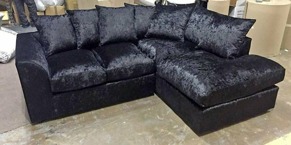 d1c2d2f25f3 2019 DISCOUNTED OFFER   LARGE CRUSH VELVET SOFAS - CORNER OR 3+2 STYLE VERY  COMFY SOFAS + FAST DLVRY
