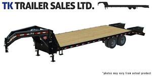 36' Classic Flat-deck Trailer with Duals - 25K GVWR (FDH)