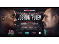 2 x Anthony Joshua vs Takam tickets