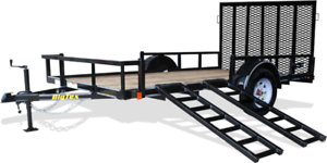 CLEARANCE BIG TEX 14' UTILITY TRAILER WITH SIDE RAMP!