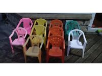 Kids plastic chairs £1.50 each or all for £10 collect Stonehaven