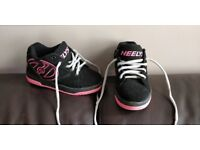 Heelys black & pink with grey laces, size 13 collect stonehaven