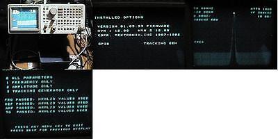 Tektronix 2712 Spectrum Analyzer 9khz To 1.8ghz Nr Gpib Port Tracking Generator