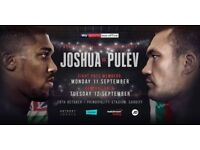 Anthony Joshua Vs Kubrat Pulev Boxing Tickets x 2 at Principality Stadium 28th October 2017