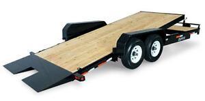 Tilt bed equipment trailer 18'+4' 14k