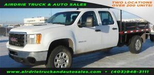 2011 GMC Sierra 3500HD SRW 8 Foot Flat Deck Truck