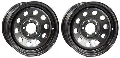 2-Pack Trailer Wheel Black Rims 15 x 5 Modular Style 5 Lug On 4.5 in.