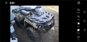 2014 Can Am 1000 XT Camo with winch