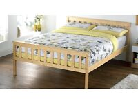 Pine Shaker Style Wooden Single Bed frame