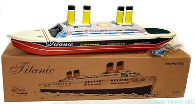 THE TITANIC TIN TOY Steam Pop-Pop BOAT Classic Toy