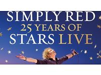 2X tickets Simply Red 25 years of Stars tour