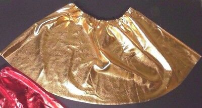 Gold Metallic Spandex Dance Costume Skirt Dance Tap Show Adult Sizes Theatrical