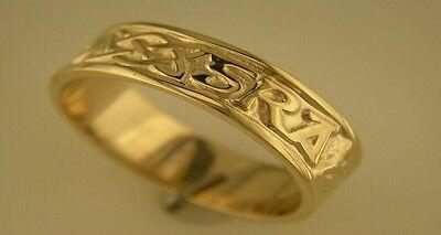 Love Forever Celtic Wedding Ring - 14k Gold Irish Hand Crafted Celtic Gra Go Deo Love forever Wedding Ring 7mm