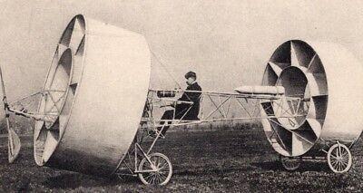 Aviation Pioneers Givaudan Flying Machine old Russian Postcard 1909 Old Flying Machine