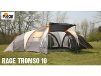 Used once 10 person family dome tent. 3 separate bedrooms. Great condition. Lots of extras included.