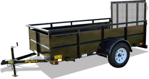 CLEARANCE!  BIG TEX 10' SINGLE AXLE VANGUARD UTILITY TRAILER