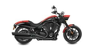 2016 Victory Hammer S  -  Black w/ Red Stripes