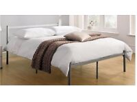 Brand New 4FT6 Double Metal Bed Frame with strong metal rod base, Mattress of choice available