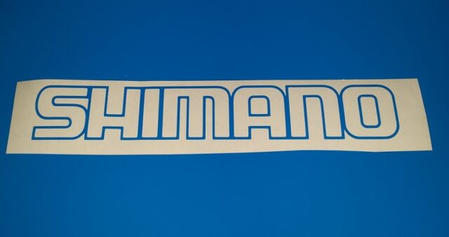 Shimano Outline sticker Blue colour small 200mm x 33mm