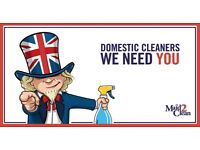 Part-time Domestic Cleaners, Walthamstow E17, HIRING NOW!