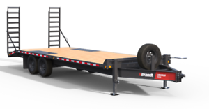 Brandt 22' Highboy Bumperpull Trailer: 8-Ton Series