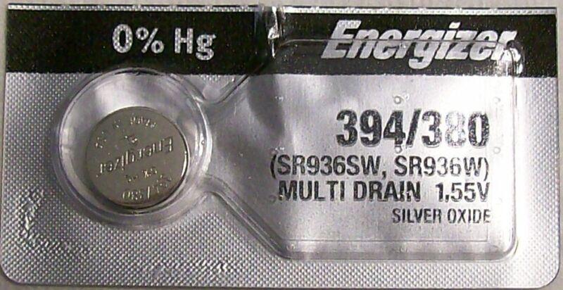 Energizer Watch Battery 394/380 replaces SR936SW, SR936W, V394, V380,  AWI S26
