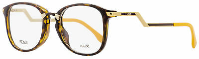 Fendi Oval Eyeglasses FF0038 ZCZ Havana/Gold/Mustard 50mm (Fendi Eyeglass)