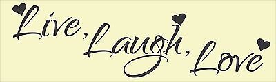Live Laugh Love Bumper Sticker Vinyl Decal Cute Family Quote Car Home Living Bz