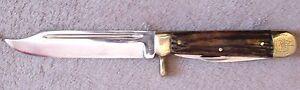 Mühlhausen Messer DDR 3 Teilig Jagdmesser 4,5 mm Klinge rostfrei Lederscheide
