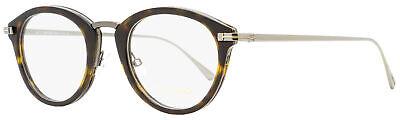 Tom Ford Oval Eyeglasses TF5497 052 Dark Havana/Ruthenium 48mm (Eyeglasses Tom Ford)