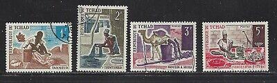 CHAD  - 229-229B;229D - USED - 1970 - CHAD ARTISANAT