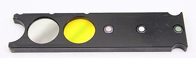 Reichert Leica Polylite Green Interference Filter Slider Nd Microscope