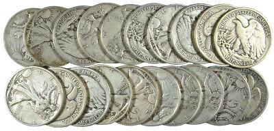 1916-1947 Walking Liberty Half Dollar Average Circulated (90% - 1916 Walking Liberty Half Dollar