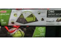 Brand new Coleman 5man dome tent